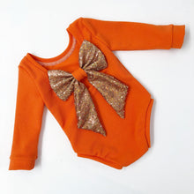 Load image into Gallery viewer, My little pumpkin ready to post bow back bodysuit