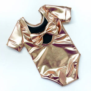 Rose Gold Bow Back Bodysuit and Dress