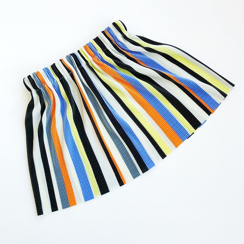 Rainbow Stripe Mama and Mini Pleated Skirt