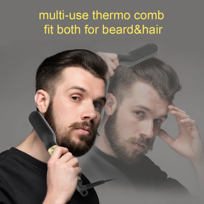 Electric Hair Straightener Hot Combs Beard Straightener Brush - HomegoPlus