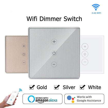 Gold Silver Led Dimmer Smart Wifi Switch Touch Control - HomegoPlus