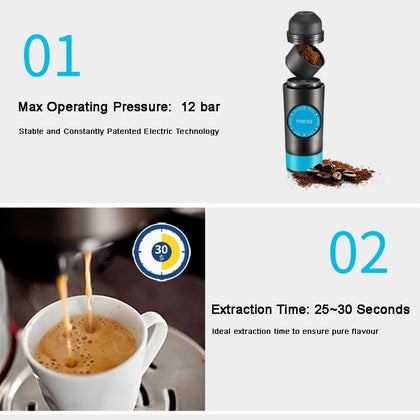 2 in 1 Capsule Ground Mini Espresso Portable Coffee Maker - HomegoPlus