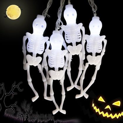 Skeleton Shaped Halloween Decorative LED Lights - HomegoPlus