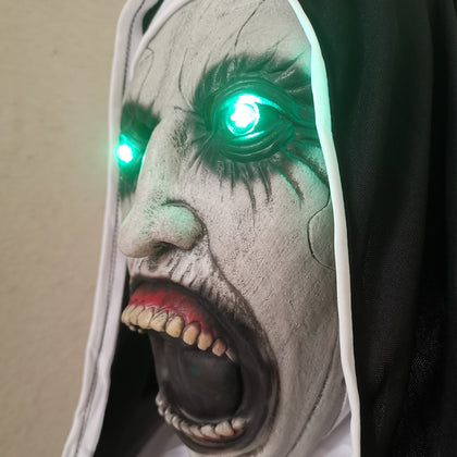 LED Mask Cosplay Halloween Nun - HomegoPlus
