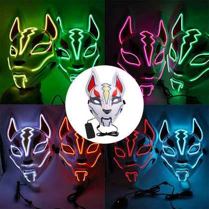 Fox LED Mask Halloween Costume Cosplay - HomegoPlus