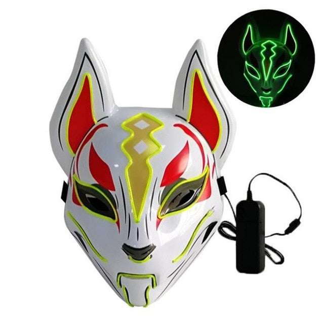 Fox LED Mask Halloween Costume Cosplay