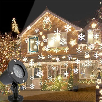 90-240V Christmas Snowflake Laser Light Snowfall Projector