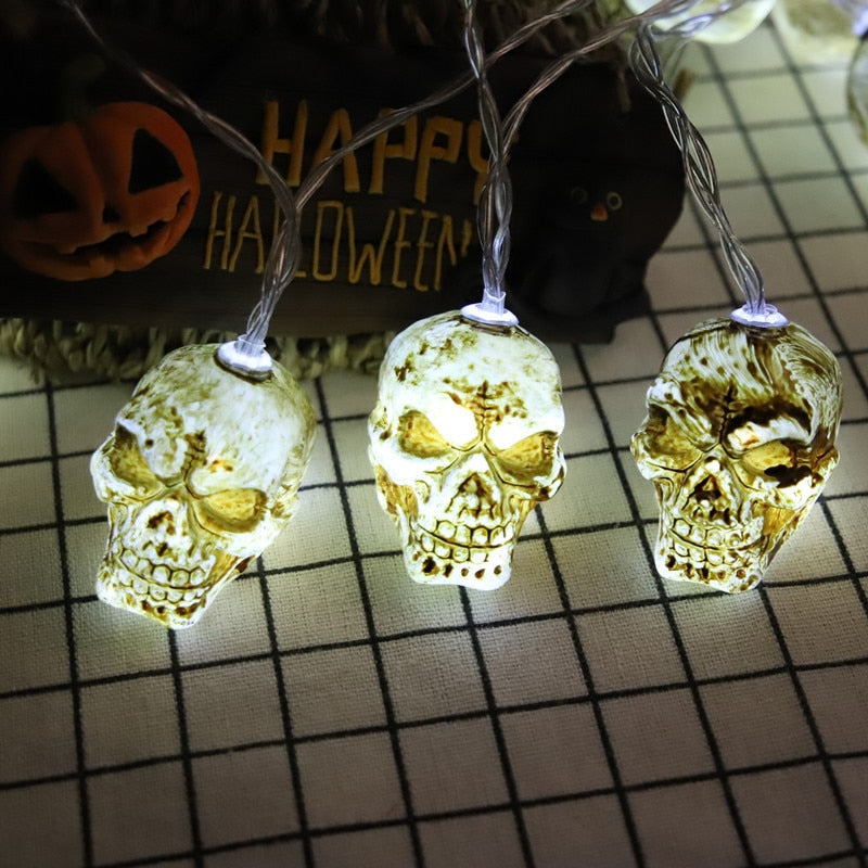 Scary Skull Shaped String Lights LED
