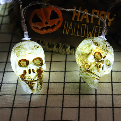 Scary Skull Shaped String Lights LED - HomegoPlus