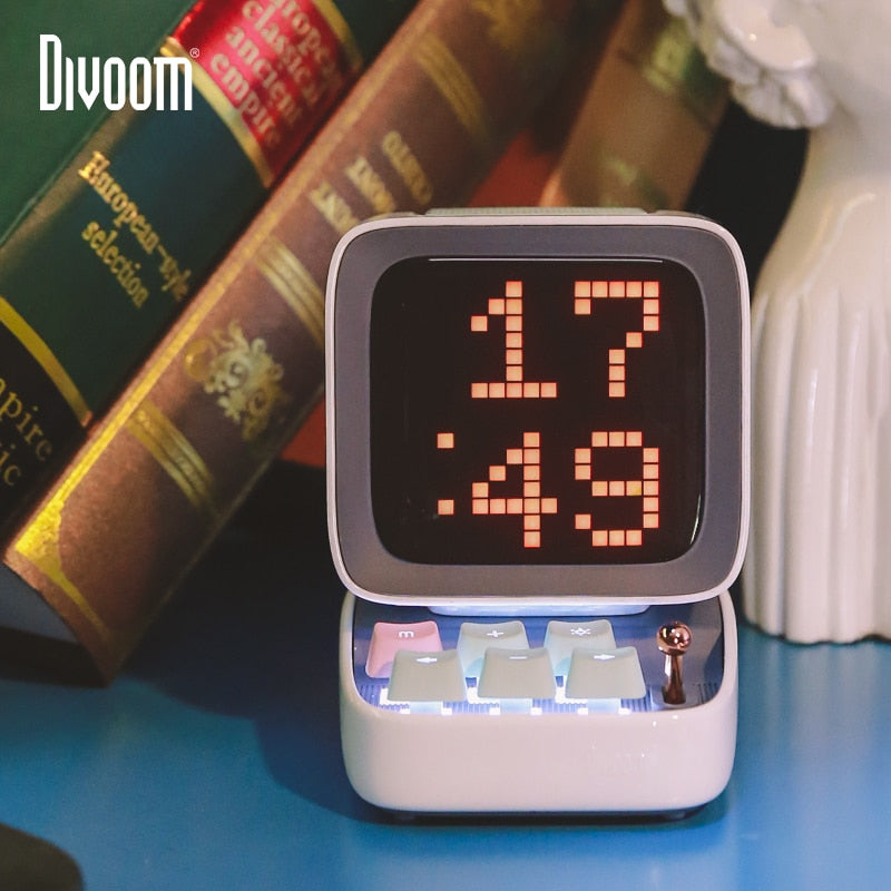 Pixel Bluetooth Wireless Smart Speaker Alarm Clock