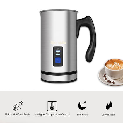 3 Function Electric Milk Frother for Latte Cappuccino Hot Chocolate - HomegoPlus