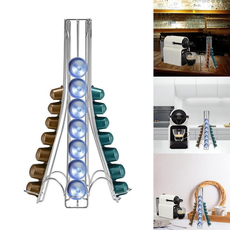 Stainless Steel Coffee Pod Holder For 32 Capsules