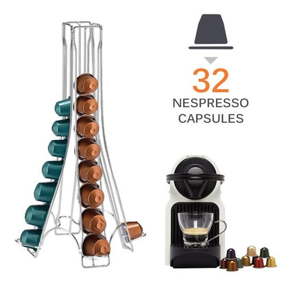 Stainless Steel Coffee Pod Holder For 32 Capsules - HomegoPlus