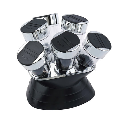 7pcs Condiment Set Plastic Kitchen Spice Rack Set - HomegoPlus