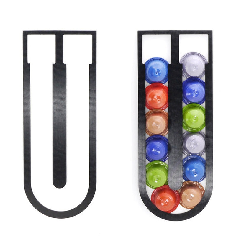 Coffee Pod Holder 12 Capsules Tower Stand Coffee Filter Holder