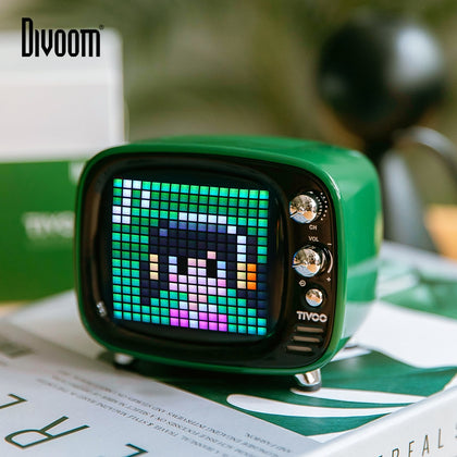 Portable Bluetooth speaker Smart Clock Alarm Pixel Art DIY - HomegoPlus