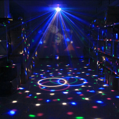 Sound Activated Rotating Disco Ball DJ Party Lights 3W 3LED