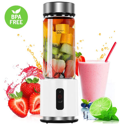 380ml 4000mAh USB Rechargeable Mini Blender Juicer - HomegoPlus