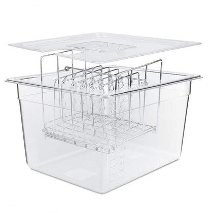 Stainless Steel Sous Vide Rack 11L Sous Vide Cooker Containers Sets - HomegoPlus