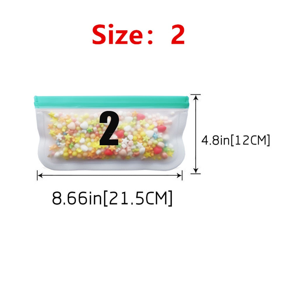 Silicone Bag PEVA Silicone Food Storage Bag Containers