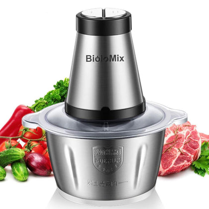 500W Stainless steel 2L Capacity Electric Chopper Meat Grinder - HomegoPlus