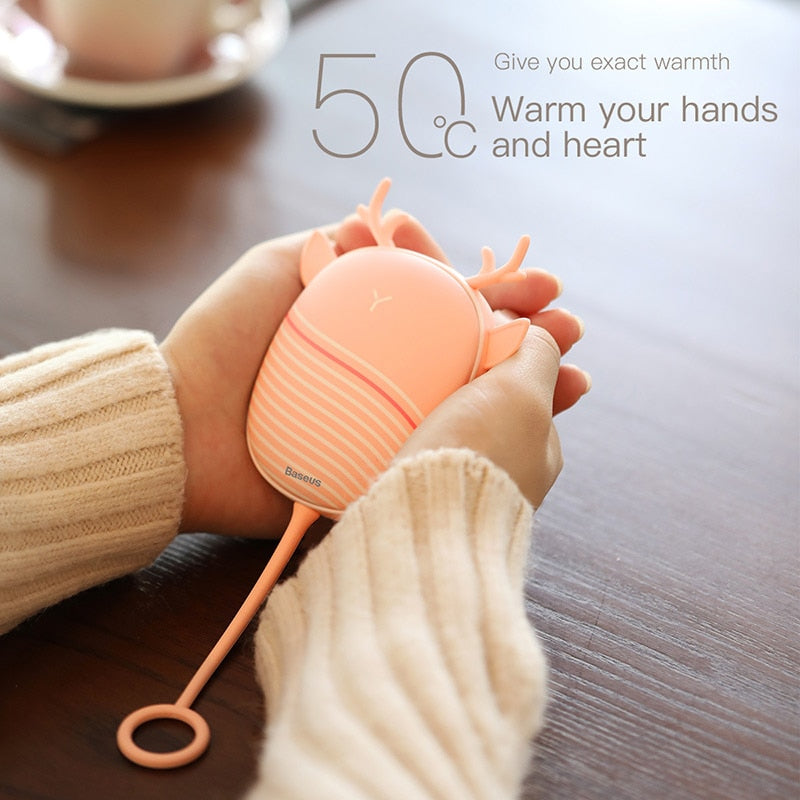 Hand Warmer USB Rechargeable Electric Heater Night Light