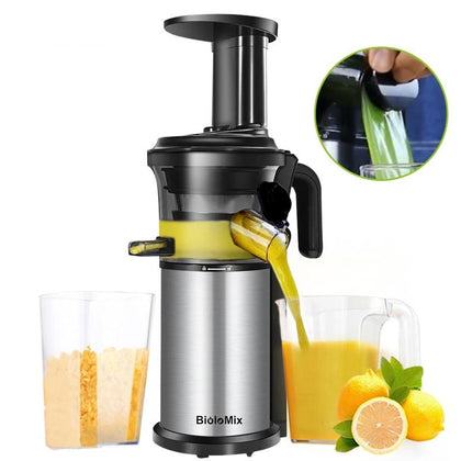 200W 40RPM Stainless Steel Masticating Slow Auger Juicer - HomegoPlus