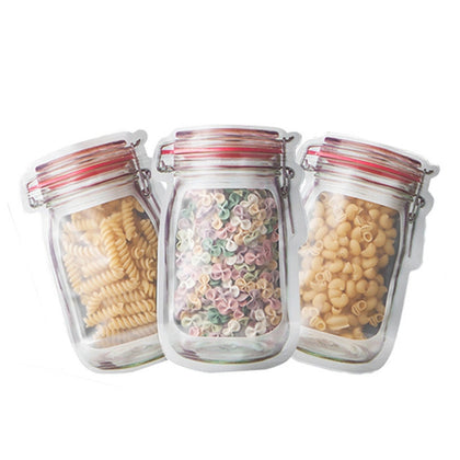Reusable Mason Jar Bottles Bags Nuts Candy Cookies Bag - HomegoPlus