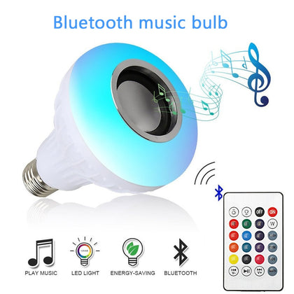 Smart LED Bulb RGB Light Wireless Bluetooth Audio Speaker - HomegoPlus