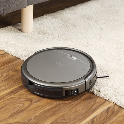 Robot Vacuum Cleaner Powerful Suction for Thin Carpet Hard Floor - HomegoPlus