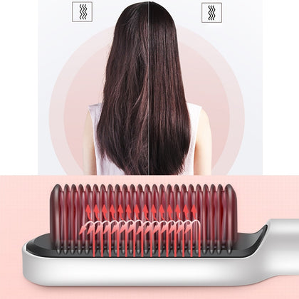 Electric Hair Straightener Brush Heated Comb - HomegoPlus