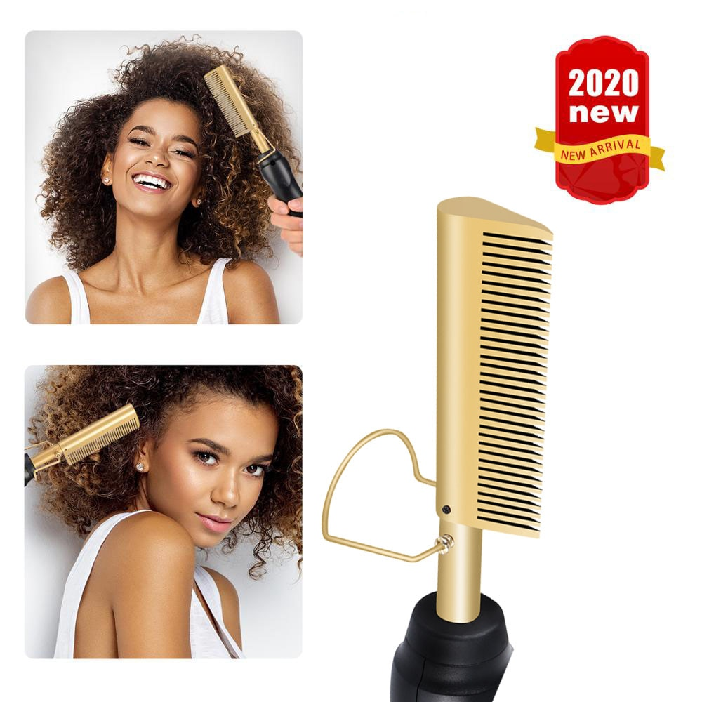 Electric Comb Hair Curling Iron Environmentally Alloy Hair Brush