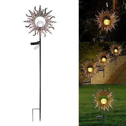 LED solar sun lights outdoor lighting safety IP55 waterproof - HomegoPlus