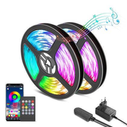 LED Strip Light Music Sync Color Changing Built-in Mic App Controlled - HomegoPlus