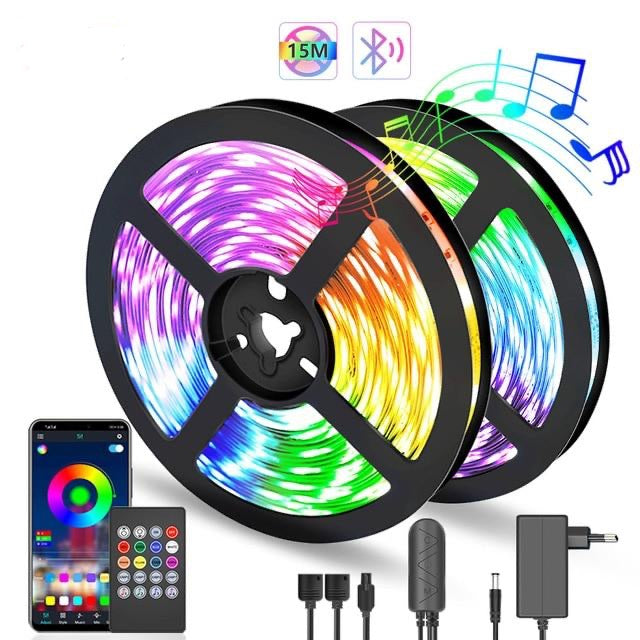 LED Strip Light Music Sync Color Changing Built-in Mic App Controlled