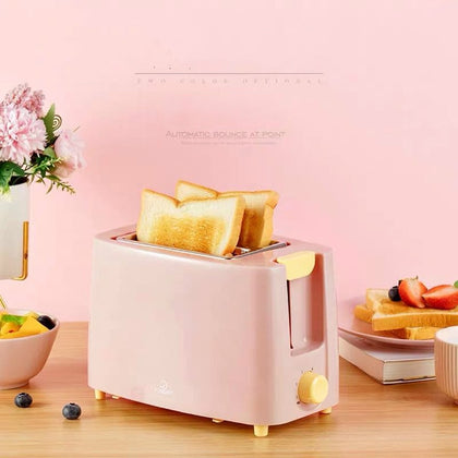 Stainless Steel Electric Toaster Automatic Bread Baking Maker - HomegoPlus