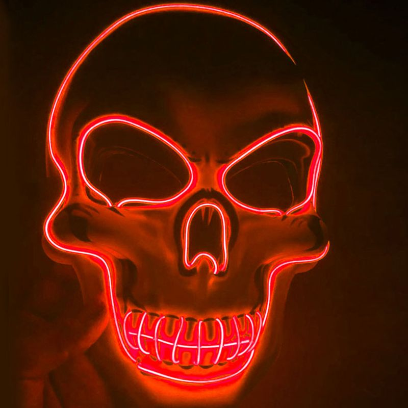 Halloween Mask Cosplay LED EL Wire Costume