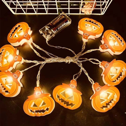 Halloween LED String Light Pumpkin Spider Bat Skull - HomegoPlus