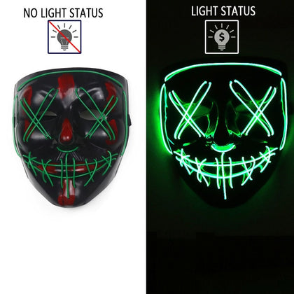 LED Mask Halloween Cosplay Costume - HomegoPlus