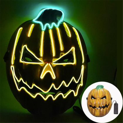 Halloween Pumpkin LED Mask Costume - HomegoPlus