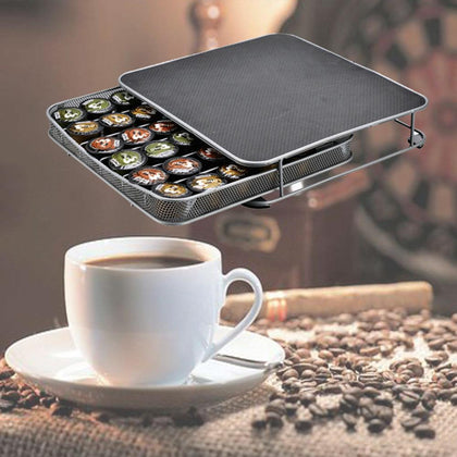 Coffee Pod Holder Storage Drawer Rack 36Pcs Capsules - HomegoPlus