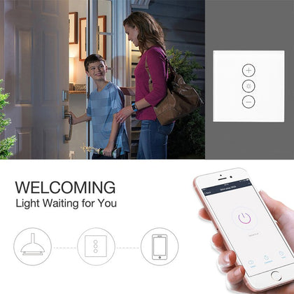 EU/UK WiFi Smart Wall Touch Light Dimmer Switch - HomegoPlus