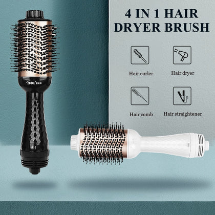 One Step Hot Air Hair Dryer Brush Hair Straightener Comb - HomegoPlus