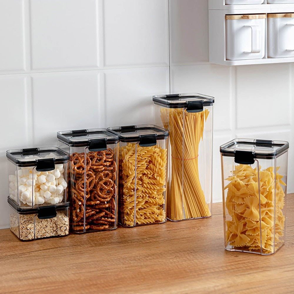 Food Storage Container Plastic Kitchen Refrigerator Noodle Box