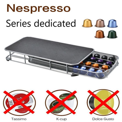 Coffee Machine Base Pod Holder Storage Drawer 40pcs Capsules - HomegoPlus