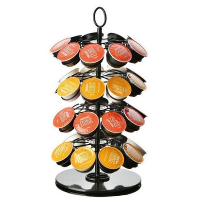 360 Rotating 36 Capsule Coffee Pod Holder Capsules Tower Stand - HomegoPlus