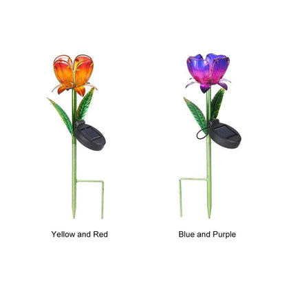 2pcs LED Flower Shape Solar Power Light Outdoor Waterproof - HomegoPlus