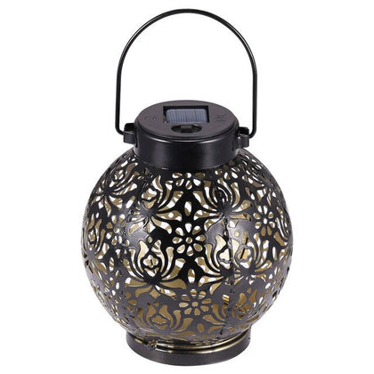 Retro Solar LED Lantern Outdoor Garden Hanging Lamp - HomegoPlus