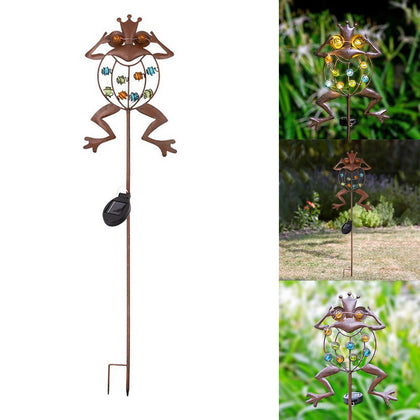Frog LED Solar Flame Light Lamp Waterproof Garden Decoration - HomegoPlus