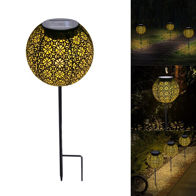 Solar Light LED Lantern Garland Waterproof Garden Light